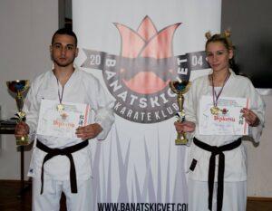 levo-Igor Popov desno-Gorana Toskovic Banatski cvet karate