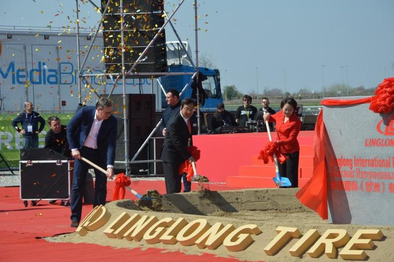 Vucic Polozio Kamen Temeljac Za Kinesku Kompaniju Linglong U